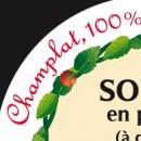 Etiquette autocollante sur couvercle bocal de soupe