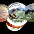 Exemple ouverture Medaillon Dépliant sur Couvercle bocal Champlat